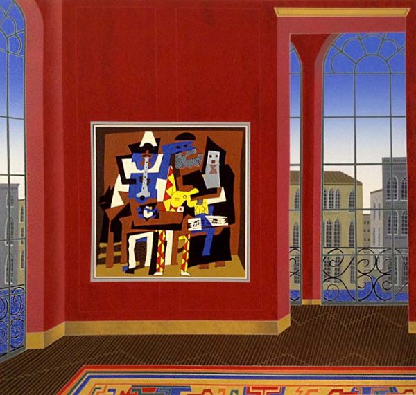 Thomas McKnight - Picasso in Venice print of room with large painting overlooking city