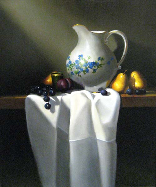Richard Weers - Pitcher & Pears still life painting