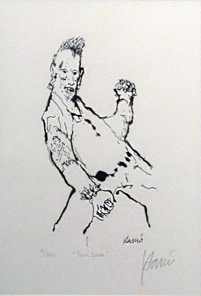 Jerry Garcia - Punk Dude Hand signed limited edition print of rockstar posing
