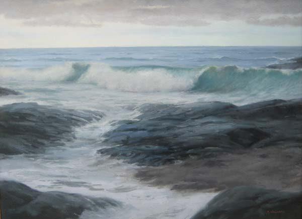 Ocean Drive Arrival (18x24 oil on canvas)