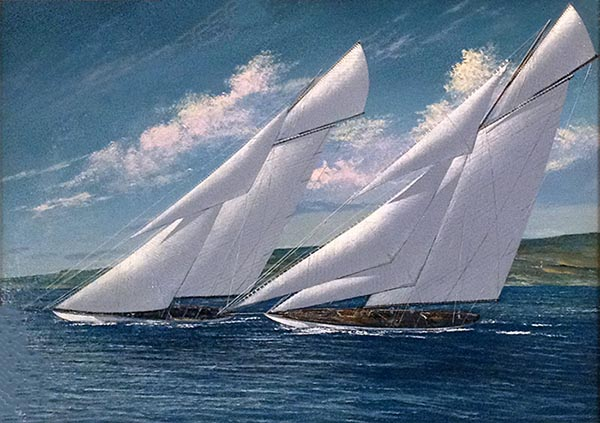 Scott Duncan Racing W Class small sailing boat on water