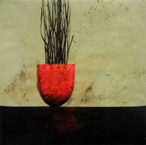 David Jackson Red Bowl Oil Painting on Canvas