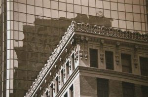 Vivian Avery - Reflections sepia black and white Boston architecture boston public library photographs