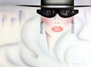 Eric Freyman Reflections print of woman with sunglasses
