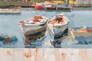 Josef Kote - Resting in Water (20x30 giclee on canvas)