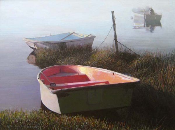 Row Boats in Fog