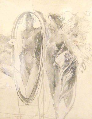 Jürgen Görg - Romeo & Juliet I (15x12 etching)