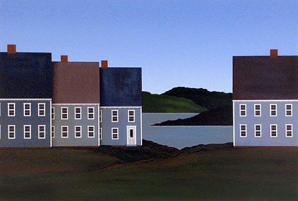 Ted Jeremenko - Roofs print of houses at edge of water