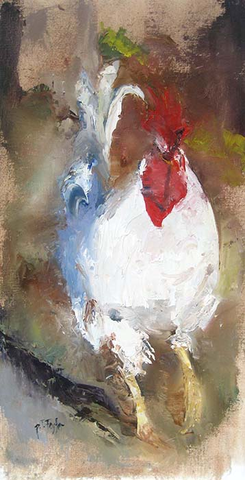 Pat Foster Rooster painting