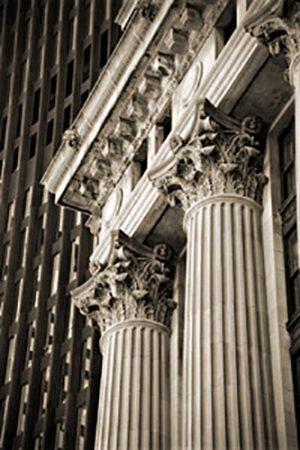 Vivian Avery - Court Street Columns sepia black and white Boston architecture boston court street photographs