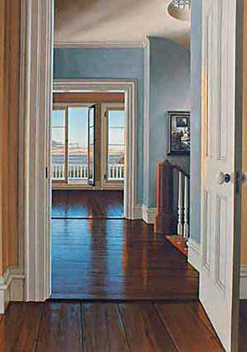 Edward Gordon - Still Waters print of hallway at top of stairs