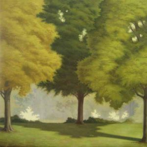JR Newton Painting of green trees