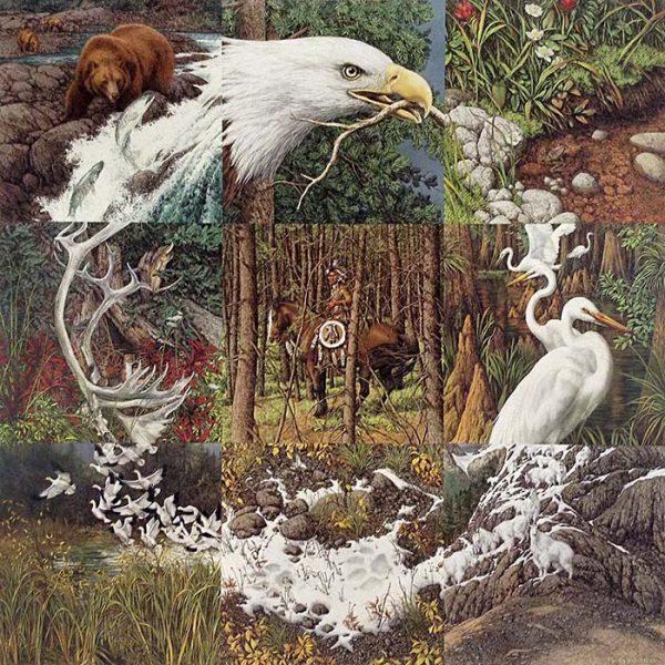 Bev Doolittle - Sacred Circle print of animals and nature forming circle