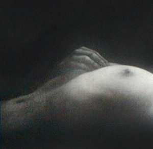 Mikio Watanabe - Serenite II print of nude female laying down with hand on chest