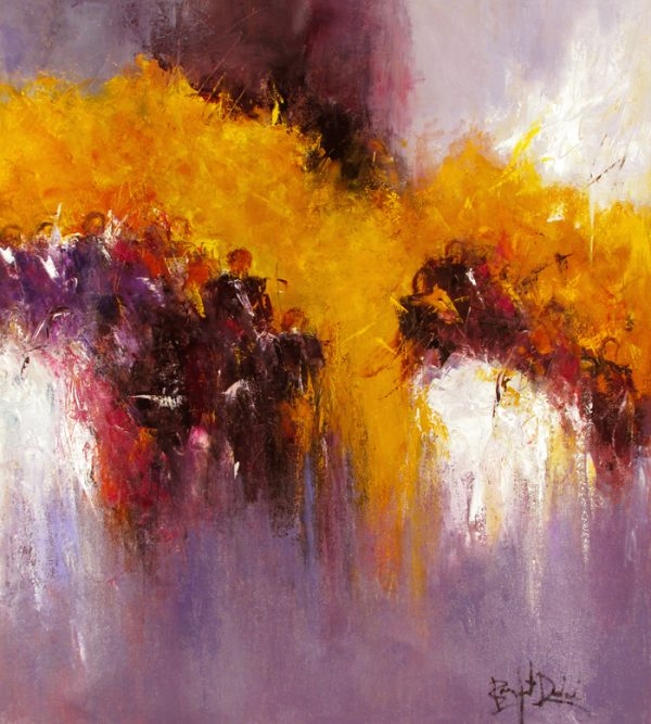 Marcelle Dube Contemporary Abstract Oil Painting on Canvas