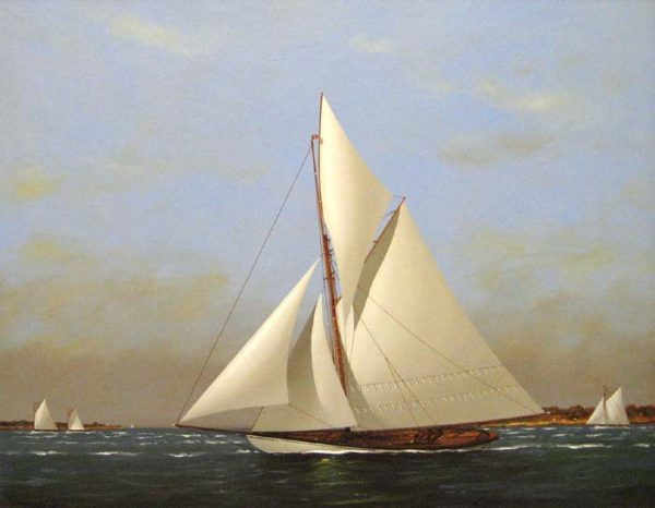 Vern Broe - Sailboats (22x28 oil painting on panel)