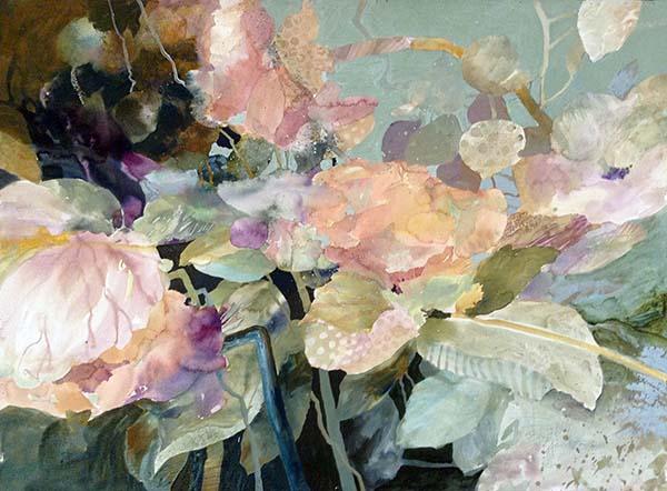 Dorothy Ganek abstract floral watercolor painting
