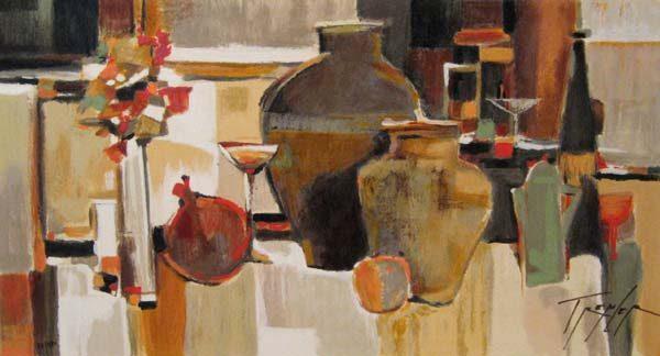 Yuri Tremler - Still Life - Still life with vases in neutral colors