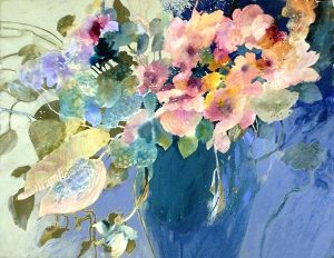 Dorothy Ganek floral watercolor still life #14