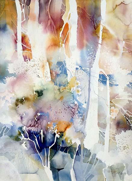 Dorothy Ganek - Still Life #19 abstract watercolor