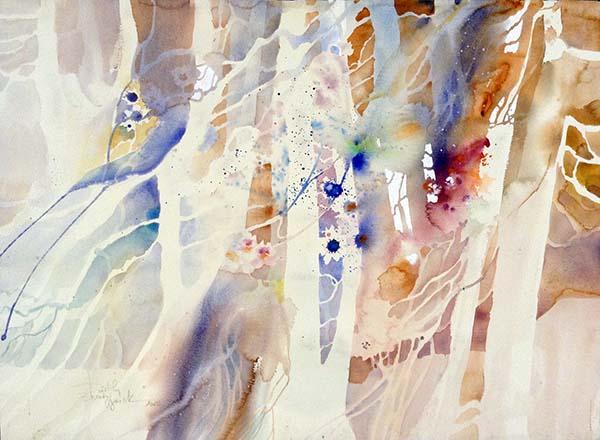 Dorothy Ganek - Still Life #20 abstract watercolor