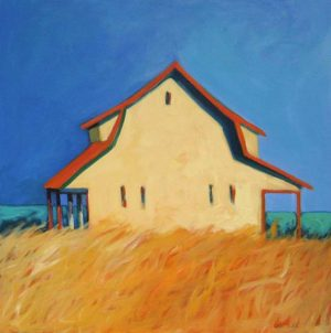 Karen Jones Summer House (30x30 acrylic painting on canvas)
