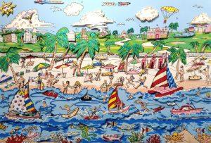 Charles Fazzino - Sun and Fun