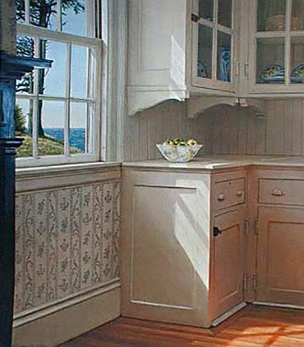 Edward Gordon - Sunday print of corner of kitchen