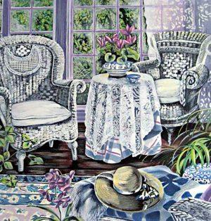 Susan Rios - Sunday Morning (34x36 serigraph on paper)