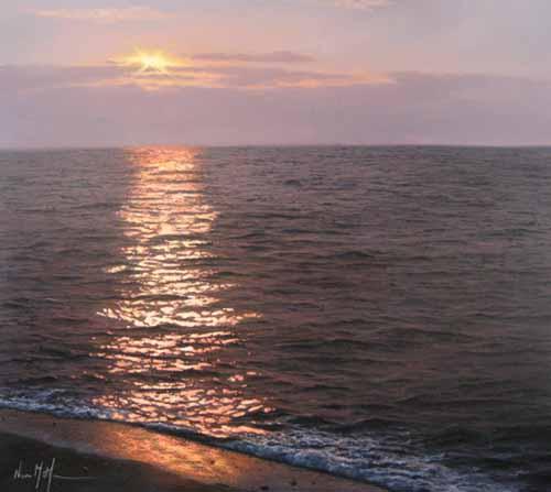 Sunset (28x32 oil on canvas)