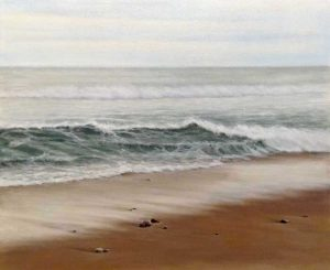 Antonia Tyz Peeples Traditional Oil Painting of Ocean Wave Seascape Beach