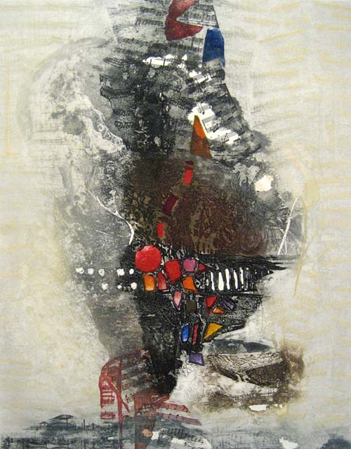 Nissan Engel - Tempo - Mixed media representation of musical abstraction