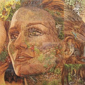 Bev Doolittle - The Earth is My Mother print of nature scenes creating woman's face