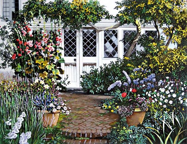 Susan Rios - The Garden Shed (38x44 serigraph on paper)