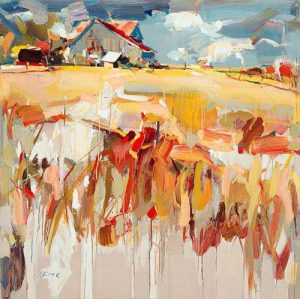 Josef Kote - The Old Barn (40x40 giclee on Canvas)