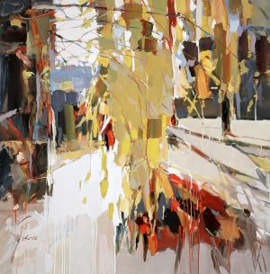 Josef Kote Giclee of a Tree in the Forest with Sun Light Shining Through