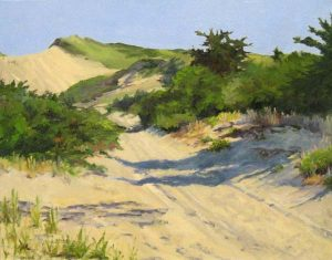 Barbara Levine - This is Summer - Painting of a sand dune leading into the distance