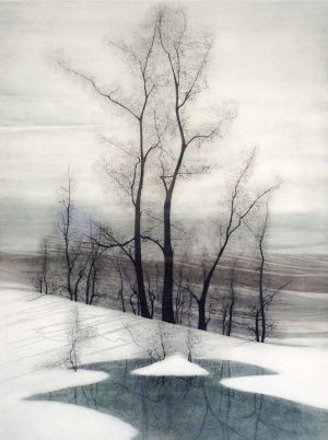 P. Buckley Moss - Trees In Winter