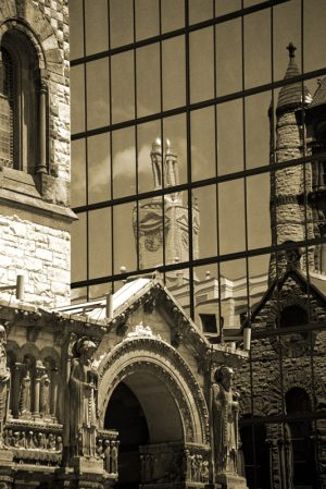 Vivian Avery - sepia black and white architecture Trinity Chapel Reflections photographs