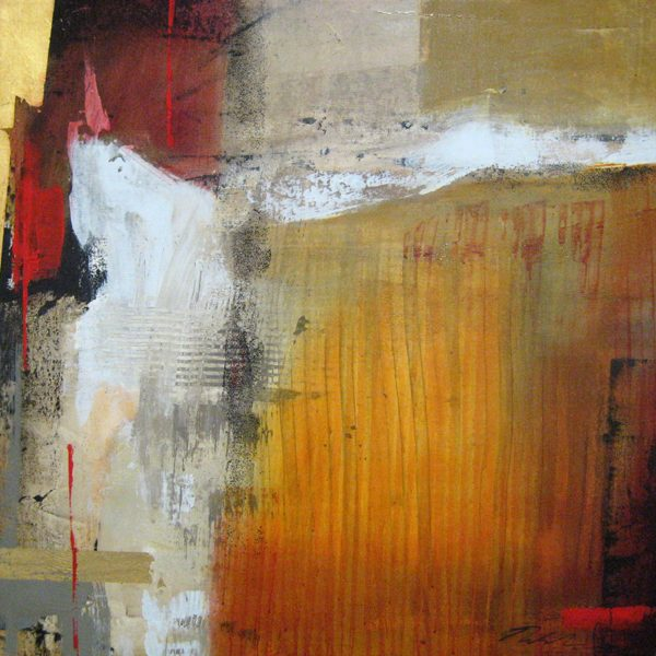 Natasha Barnes Small Abstract Oil Painting
