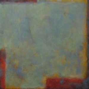 Jeff Ringdahl - Turquoise Abstract - Abstract resin painting with turquoise and red