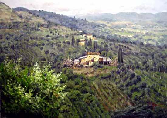Antonio Sannino Vineyard house nestled among vineyard hills