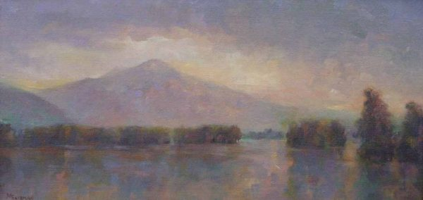 Marilyn Fairman Twilight on Lake George (8x16 oil on canvas)