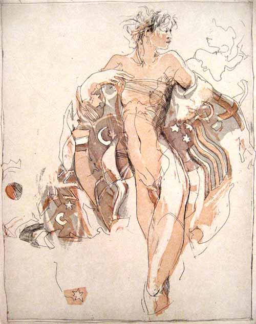 Jürgen Görg - Verbindung (12x9 etching)