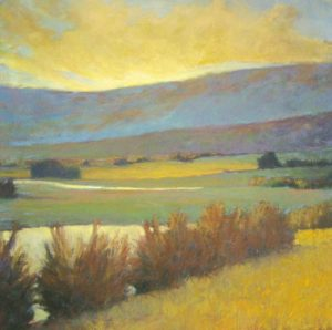 Ken Elliott - View Across the Water (28x28 giclee)