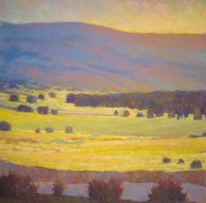 Ken Elliott View Across the Yellow Field (28x28 giclee)