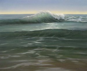 Lorena Pugh Painting of the ocean with a wave