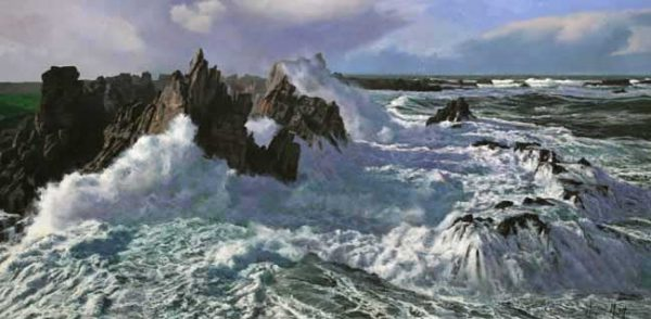 White Water (20x40 oil on canvas)