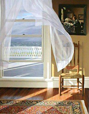 Edward Gordon - Wind From the Sea print of open window overlooking rough sea