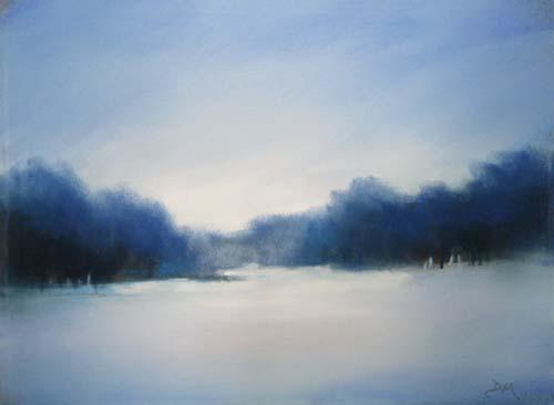 Dannielle Mick Pastel on Paper of Winter Scene